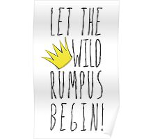 Where the Wild Things Are - Rumpus Begin Crown Cutout Poster