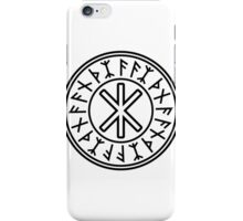 Odin's Protection No.2 (black) iPhone Case/Skin