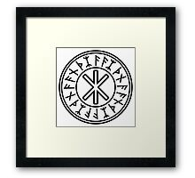 Odin's Protection No.2 (black) Framed Print