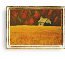 Mountain Autumn, with Framed Impression... Products Canvas Print
