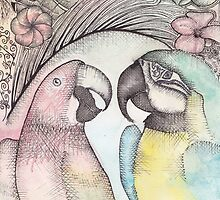 Parrots  by rosiec