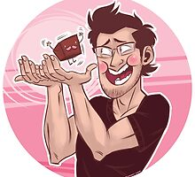Markiplier Loves His Little Biscuit by VickoRano