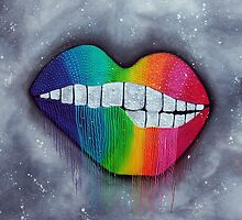 Rainbow Lips by Laura Barbosa