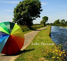 Umbrella at the canal by Luke Pearson