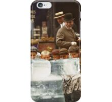 Licking blocks of ice during heat wave in New York, July, 1911 iPhone Case/Skin