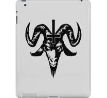 Satanic Goat Head with Cross (black) iPad Case/Skin