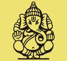 Ganesh Ganesa Ganapati 4 (black outline) Kids Clothes