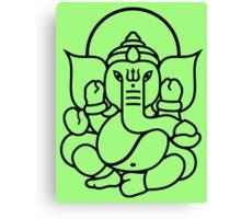 Ganesh Ganesa Ganapati 3 (black outline) Canvas Print