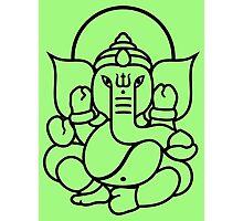 Ganesh Ganesa Ganapati 3 (black outline) Photographic Print