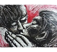 Lovers - Her Kiss Photographic Print
