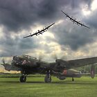 The Prince`s Break - The 3 Lancasters East Kirkby - HDR by Colin J Williams Photography
