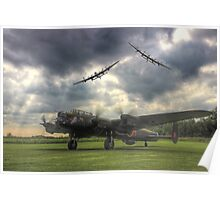 The Prince`s Break - The 3 Lancasters East Kirkby - HDR Poster