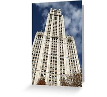 Classic Woolworth Building, Lower Manhattan, New York City Greeting Card