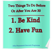 Two Things To Do Before You Are 30 Poster