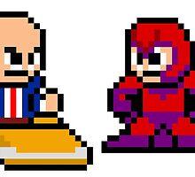 8-bit Professor X & Magneto by groundhog7s