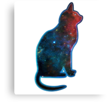 Space cat, Universe, Kosmos, Galaxy, Star Canvas Print