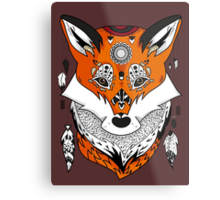 Fox Head Metal Print