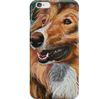 """My Best Friend"" Portrait of A Collie iPhone Case/Skin"