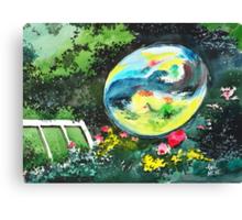 Bubble Reflections Canvas Print