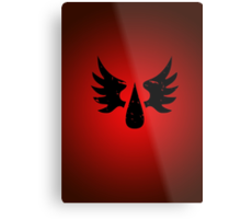 Blood Angels - Sigil - Black - Warhammer Metal Print