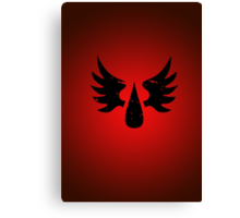Blood Angels - Sigil - Black - Warhammer Canvas Print