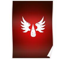 Blood Angels - Sigil - White - Warhammer Poster