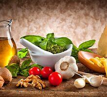 Ingredients for Pesto by Antonio Gravante