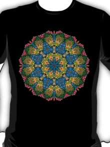 Psychedelic jungle kaleidoscope ornament 22 T-Shirt