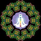 Psychedelic jungle kaleidoscope ornament 23 by Andrei Verner