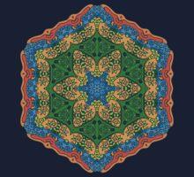 Psychedelic jungle kaleidoscope ornament 26 T-Shirt