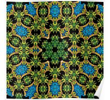 Psychedelic jungle kaleidoscope ornament 28 Poster