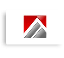 abstract-logo-A-alphabet Canvas Print