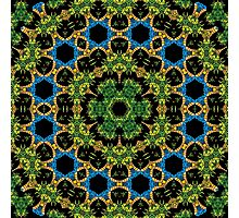 Psychedelic jungle kaleidoscope ornament 29 Photographic Print