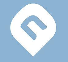 NAiA Logo - White on Azure by NAiAcrypto