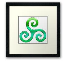 Triskele Symbol  Framed Print