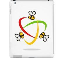 bee-flying-circle-logo iPad Case/Skin