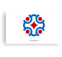 circle-connection-abstract-logo Canvas Print