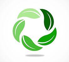 circle-green leaf by mydigitall
