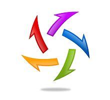 circle-arrow-abstract-logo by mydigitall