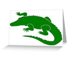 Green Alligator Greeting Card