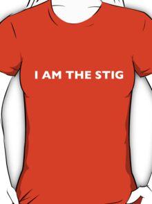 I AM THE STIG - English White Writing T-Shirt