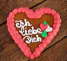 Lebkuchenherzen gingerbread Heart cookie by Antonio Gravante