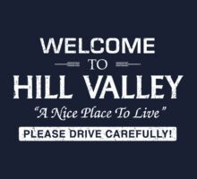 Welcome To Hill Valley (White) by Gingerbredmanny