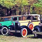 Colorful Model A's by Susan Savad