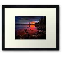 Waldo Lake ~ Sunset ~ Framed Print