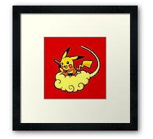 Pikachu is Flying Framed Print