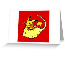 Pikachu is Flying Greeting Card