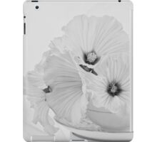 Lavatera Flowers In Tea Cup - Still Life iPad Case/Skin