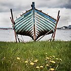 Moored Boat, Cromarty, Scotland by cjdolfin