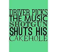 Driver Picks The Music Photographic Print